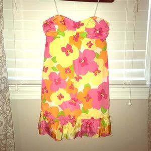 Strapless ruffle Lilly pulitzer dress